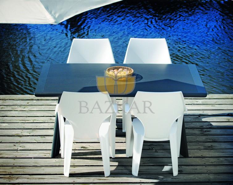 Stoły Ogrodowe Plastikowe Allegro : Krzesło ogrodowe plastikowe DANTE Wysokie Oparcie  4232523706